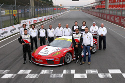 GT2 champion photoshoot: #95 Advanced Engineering Ferrari F430: Matias Russo, Luis Perez Companc