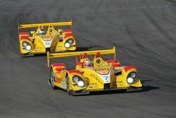 #7 Penske Racing Porsche RS Spyder: Romain Dumas, Timo Bernhard and #6 Penske Racing Porsche RS Spyd