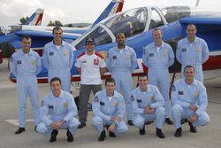Sebastien Loeb avec la patrouille de France dans la région de Provence en France et dans les Alpes f