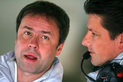 Gerhard Ungar, Chief Designer AMG and Axel Randolph, Race Engineer of Paul di Resta, Team HWA AMG Me