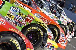 Les voitures Nationwide Series alignées