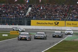 Mattias Ekström, Audi Sport Team Abt Sportsline, Audi A4 DTM leads Paul di Resta, Team HWA AMG Merc
