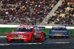 Gary Paffett, Persson Motorsport AMG Mercedes, AMG-Mercedes C-Klasse, leads Maro Engel, Mücke Motors