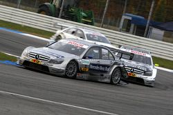 Bruno Spengler, Team HWA AMG Mercedes, AMG Mercedes C-Klasse leads Bernd Schneider, Team HWA AMG Mer