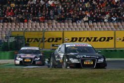 Timo Scheider, Audi Sport Team Abt, Audi A4 DTM leads Mattias Ekström, Audi Sport Team Abt Sportsli