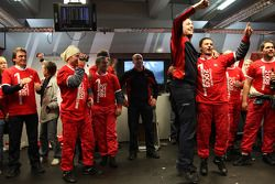 Championship celebration party in the Audi Sport Team pitbox
