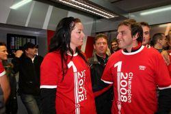 Championship celebration party in the Audi Sport Team pitbox: Jasmin Rubatto, girlfriend of Timo Scheider