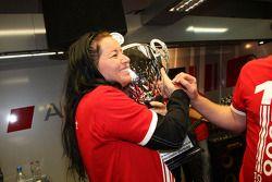 Fête de célébration du championnat dans les stands d'Audi: Jasmin Rubatto, petite amie de Timo Sche