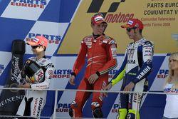 Подиум: победитель гонки - Кейси Стоунер, второе место - Дани Педроса, третье место - Валентино Росси