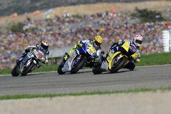 Colin Edwards, Valentino Rossi en Andrea Dovizioso