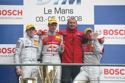 Podium: race winner Mattias Ekström, second place Paul di Resta, third place Alexandre Prémat, Harr