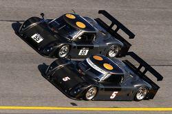 #5 Penske Racing Porsche Riley: Romain Dumas, #55 LevelFive Motorsports BMW Riley: Christophe Bouchut, Marc Goossens, Scott Tucker, Ed Zabinski