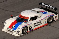 #58 Brumos Racing Porsche Riley: Joao Barbosa, Darren Law