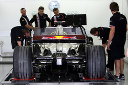 The Red Bull Racing RB4 of David Coulthard