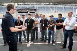 Anthony Ward, Stock Car drivers Carlos Bueno and Daniel Serra and guests