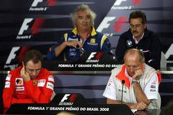 Пресс-конференция FIA: руководитель команды Renault F1 Флавио Бриаторе, руководитель BMW Sauber F1 М