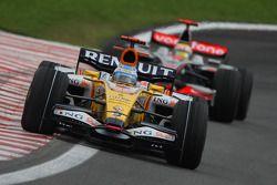 Fernando Alonso, Renault F1 Team, R28 and Lewis Hamilton, McLaren Mercedes, MP4-23