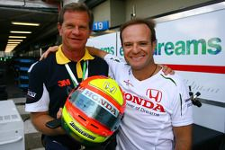 Ingo Hoffmann, Former Grand Prix Driver with Rubens Barrichello, Honda Racing F1 Team who is using his helmet livery for the Grand Prix weekend