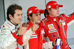 Ganador de la pole Felipe Massa, segundo Jarno Trulli, tercero Kimi Raikkonen