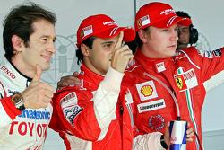 Pole winner Felipe Massa, second place Jarno Trulli, third Kimi Raikkonen