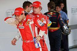 Ganador de la pole Felipe Massa, tercero Kimi Raikkonen
