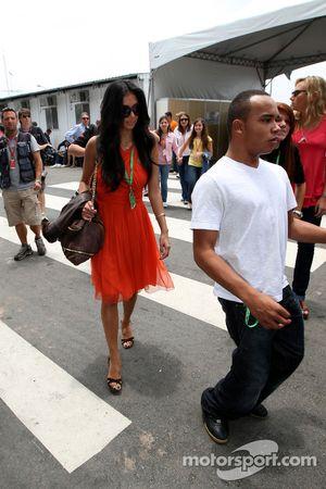 Nicole Scherzinger, Singer in the Pussycat Dolls, girlfriend of Lewis Hamilton, McLaren Mercedes, Ni