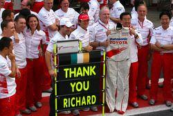 Jarno Trulli, Toyota F1 Team, Timo Glock, Toyota F1 Team, John Howett, Toyota Racing, Presidente TMG