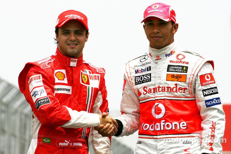 Felipe Massa, Scuderia Ferrari, Lewis Hamilton, McLaren Mercedes 2008