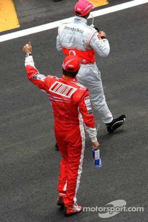 Felipe Massa, Scuderia Ferrari and Lewis Hamilton, McLaren Mercedes