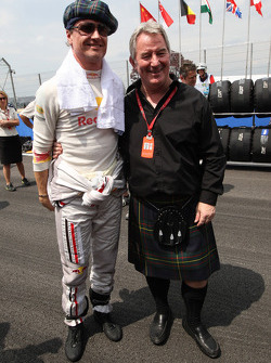 David Coulthard, Red Bull Racing and Bob McKenzie of the Daily Express Journalist