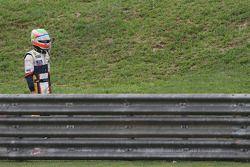 Nelson A. Piquet, Renault F1 Team choca