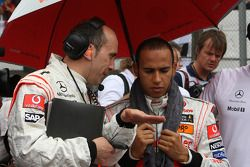 Phil Prew and Lewis Hamilton, McLaren Mercedes