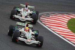 Rubens Barrichello, Honda Racing F1 Team, RA108 et Jenson Button, Honda Racing F1 Team, RA108