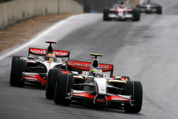 Giancarlo Fisichella, Force India F1 Team, Lewis Hamilton, McLaren Mercedes
