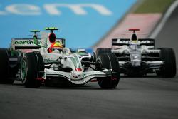 Rubens Barrichello, Honda Racing F1 Team, RA108 e Nico Rosberg, WilliamsF1 Team, FW30
