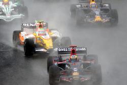 Arrancada: Sébastien Bourdais, Nelson A. Piquet y Mark Webber