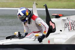 David Coulthard, Red Bull Racing choca