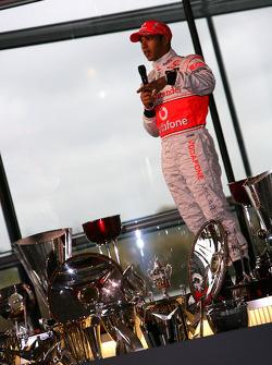 Lewis Hamilton on stage