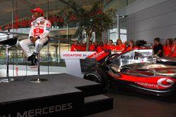 Lewis Hamilton sur scène