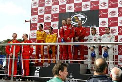 GT2 podium: Toni Vilander and Gianmaria Bruni, second place Matteo Malucelli and Paolo Ruberti, thir