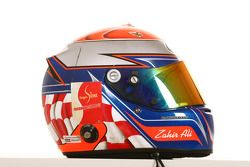Le casque de Zahir Ali, coureur de l'équipe A1 d'Indonésie