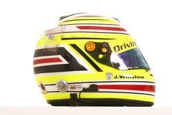 James Winslow, driver of A1 Team Great Britain helmet