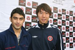 Armaan Ebrahim, driver of A1 Team India with Li Tie ex Everton football player now current Chengdu B