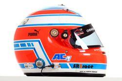 Adam Carroll, driver of A1 Team Ireland helmet