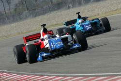 Marco Andretti, driver of A1 Team USA, Narain Karthikeyan, driver of A1 Team India