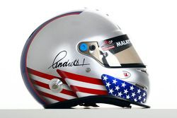 Marco Andretti, driver of A1 Team USA helmet