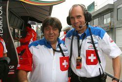Tony Teixeira avec Max Welti, coureur de l'équipe A1 de Suisse