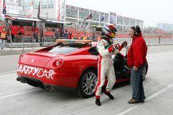 Edoardo Piscopo, driver of A1 Team Italy, returns to the pits
