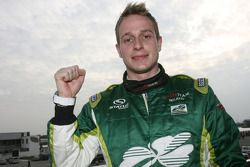 Adam Carroll, driver of A1 Team Ireland in pole position for the Sprint race