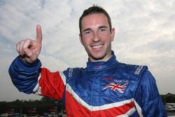 Danny Watts, driver of A1 Team Great Britain, in pole position for the feature race